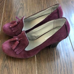NWOT Hush Puppy womens suede heels size 7